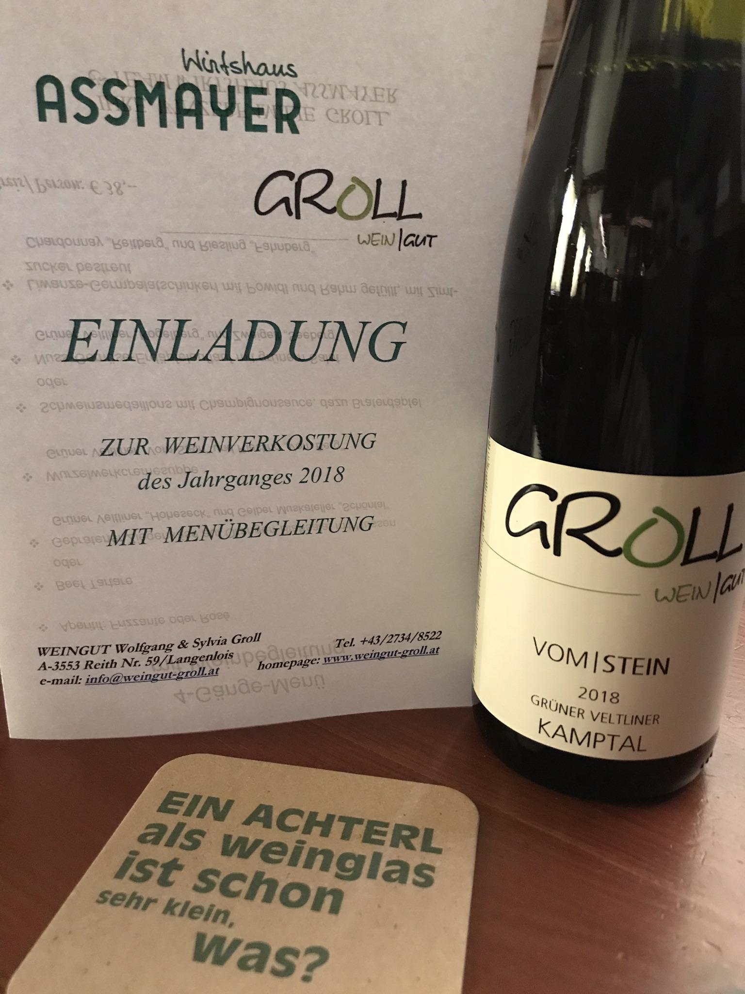 Weingut Groll - Weinverkostung mit Menübegleitung